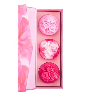 Gift Set 3 Pcs Hand Made Glycerin Soap Roses